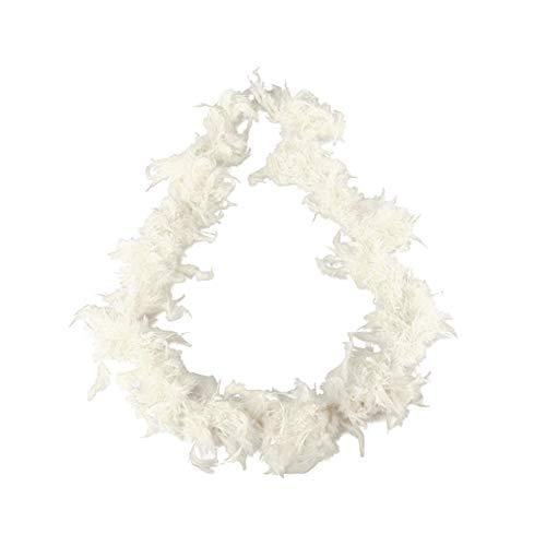 Beito 1pc Bunte Feder-Boas für Tanzen Hochzeit verkleiden Sich Halloween-Kostüm-Dekoration (weiß) (Feder Weiße Boa)