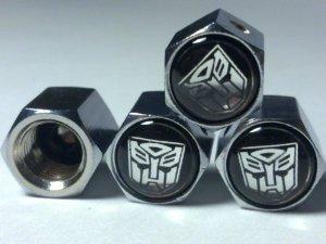 Preisvergleich Produktbild Transformers Autobots Reifenventilkappen, Motiv Sports Turbo