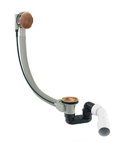 CGS TK 104 Badewanne Ablaufgarnitur mit Überlauf Komplettset Siphon ANTIK BRONZE