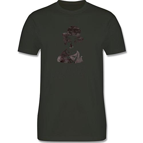 Vintage - Charlie Chaplin - mirror is my best friend - Herren Premium T-Shirt Army Grün