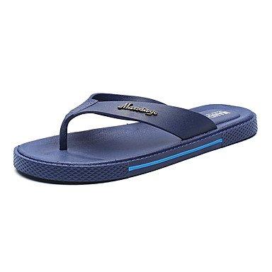 Slippers & amp da uomo;Sandali estate luce Suole PU casual blu caffè nero sandali US9.5 / EU42 / UK8.5 / CN43
