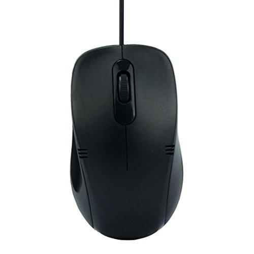 WINWINTOM NUEVO 1200 DPI USB con cable óptico del juego de los ratones del ratón para PC portátil Nuevo