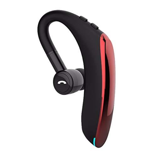 Yowablo Drahtloses Bluetooth Headset 5.0 Kopfhörer Sport wasserdichte Ohrhörer Kopfhörer ( rot )