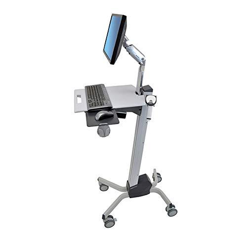 XUE Computerraum-mobiler Computerlaufkatze, medizinischer Kontrollwagen-anhebende Technologie bequemer und bequemer in Sich geschlossener Klammer-Stopper-Leisten-Rollen-Präsentationswagen -