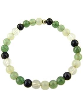 Edelstein Armband - Ruhe, Gelassenheit, Anti Stress - mit 925er Silber Perle, Heilsteinarmband, Stretcharmband