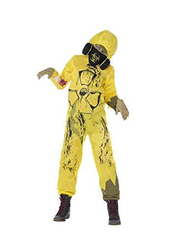 Smiffys 44302M Toxic Waste Kostüm, Jungen, Gelb, M-Alter 7-9 Jahre