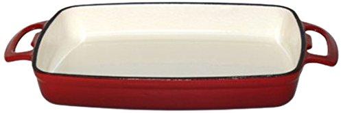 Vogue Patterns gh319 Plat Rectangulaire, en fonte, rouge