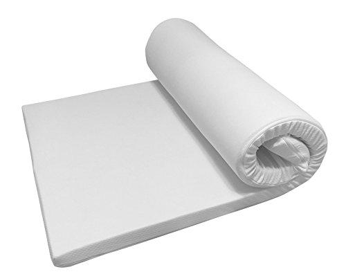 Nova Sleep Topper 160x200 cm Visco Topper H2 weich RG 50m³ mit Kernhöhe 4 cm, Gesamthöhe 5 cm, 200 gramm. Klimawatte Basic Art. Nr. 17-V4-BA-160