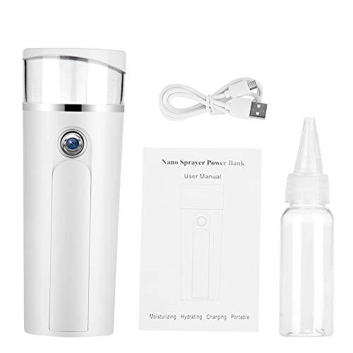 Delaman Gesichtssprüher tragbarer Nano Nebel Spray, Gesichtsdampfer, ionisches hydratisierendes Sprüher, Zerstäubungs-Herr, 21ML, weiß -