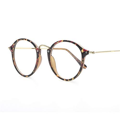 Fashion Glasses-brillenfassungen Ultraleichter Trend Brillengestell Retro-Rundrahmen flacher Spiegel...
