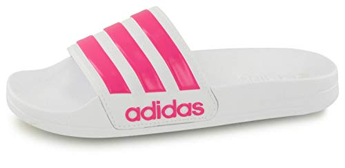 Adidas adilette shower scarpe da spiaggia e piscina bambino, bianco (ftwbla/rossen/ftwbla 000), 37 eu (4 uk)