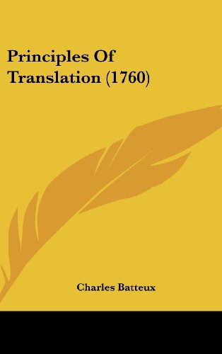 Principles Of Translation (1760)