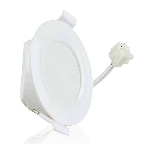 Foco empotrable LED blanco redondo 6 vatios blanco neutral plano 30mm 230V - lámpara empotrable IP44...