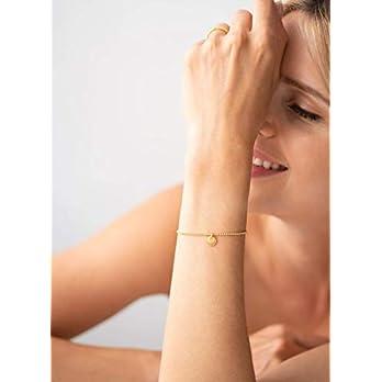 Plättchen Armkette 925 Silber vergoldet