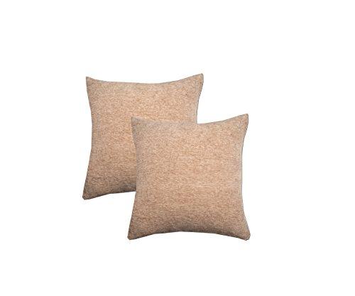Maspar By Inhouse Shanil Solid 2 Piece Cotton Cushion Cover Set - 18