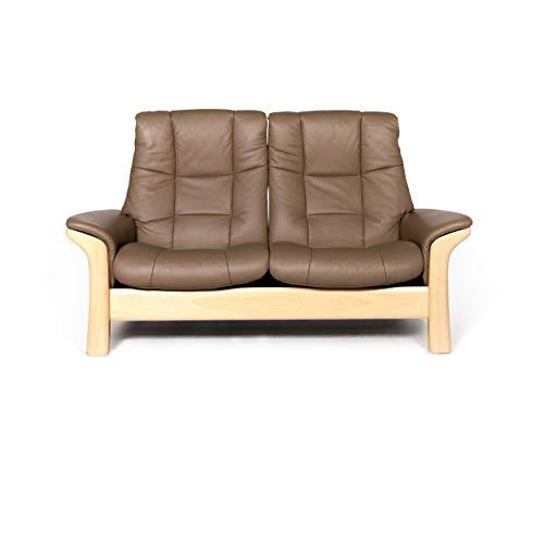 Stressless Buckingham Designer Leder Sofa Beige Echtleder Zweisitzer Couch #8738