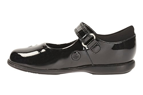Clarks Trixi Candy Infant School Girls chaussures Black Patent