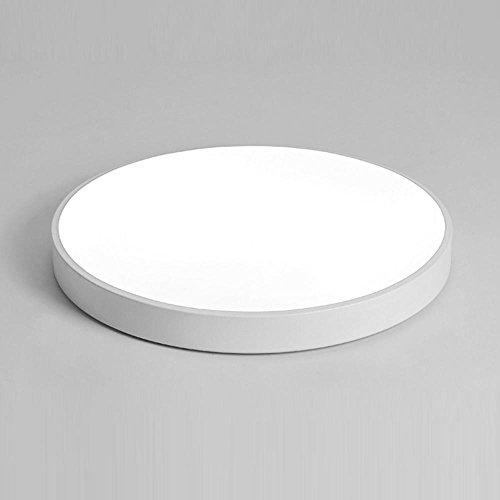 18W LED Rund Deckenleuchte Acryl Lampenschirm Deckenleuchte Modern Minimalistisch Lampe/Leuchte Ultra dünne Deckenstrahler für Wohnzimmer Schlafzimmer Restaurant Esszimmer. Weiß Ø30cm, Weißes Licht