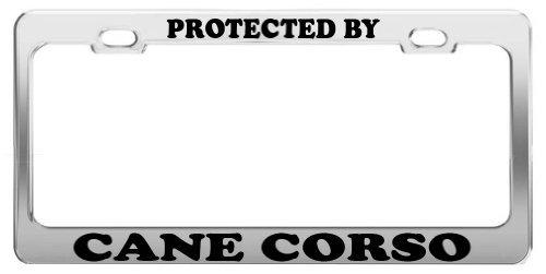 Geschützt durch Cane Corso License Plate Tag Halterung Auto Truck Zubehör (Neuheit Cane)