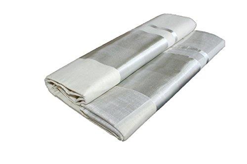 kerala traditional saree,Original 100% pure cotton kerala handloom SILVER kasavu saree.