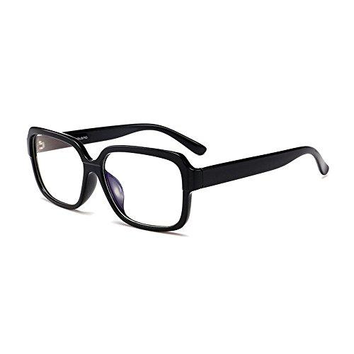 Fashion Glasses-brillenfassungen Blu-ray strahlungsfest flach, hellschwarzer Rahmen