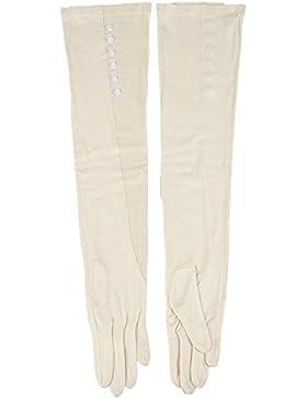 Kenmont señora de las mujeres del verano del algodón de protección ultravioleta exterior manga larga guantes de...