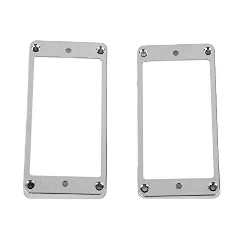 Preisvergleich Produktbild 2pcs Mounting Ring Rahmen Pickup Montagering Set für Humbucker Tonabnehmer
