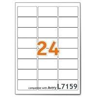 2400 étiquettes 63.5mm x 33.9mm - 24 étiquettes - autocollants - 100 feuilles A4
