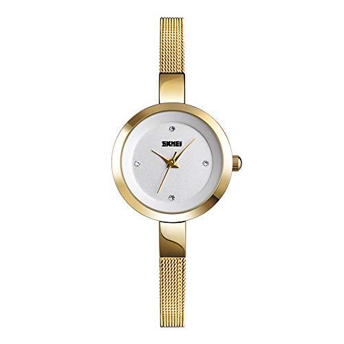 Damenuhren Kleines Zifferblatt Strass Skala Superfein Edelstahl Mesh Band Armbanduhren für Damen Exquisite Minimalist, ()