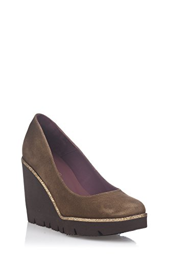 Laura Moretti Wedge Shoes, Compensées femme Marron