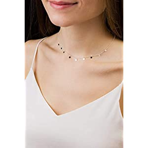 Halskette kleine Plättchen 925 Silber Geschenk