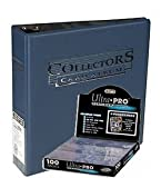 Ultra Pro 3-Ring Collectors Album Schwarz+ 100 9-Pocket Platinum Pages Ordnerseiten Black - Magic: The Gathering - Yu-Gi-Oh!