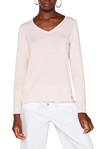 edc by ESPRIT Damen 079Cc1I001 Pullover, Rosa (Light Pink 690), Medium (Herstellergröße: M)