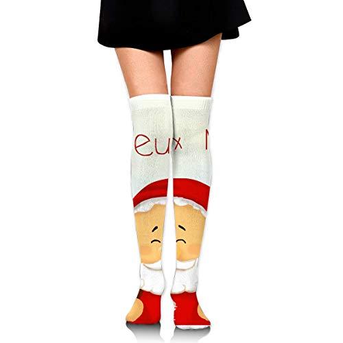 DFSDFSASDF Joyeux Noel Sign Santa Christmas Letters Ankle Stockings Over The Knee Sexy Womens Sports Athletic Soccer Socks -