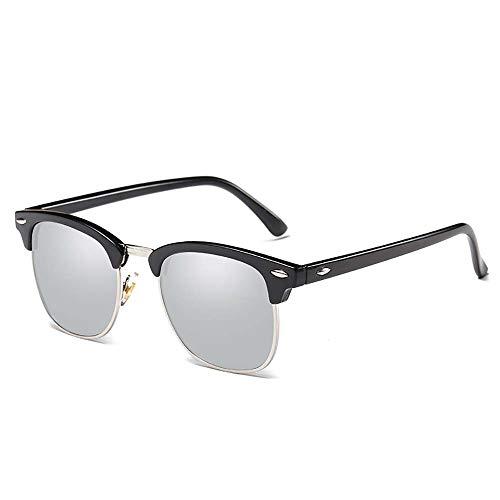 ZUZEN Einfache polarisierte Sonnenbrille Outdoor-Sonnenbrille Explosion-Proof Sportbrillen Trendy Sonnenbrillen Fahrrad-Blinks UV400 Eye Protection Unisex,Gray