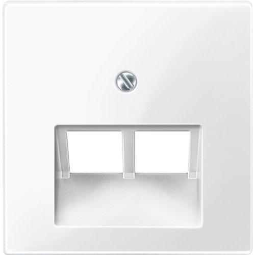 Merten Zentralplatte für UAE-Einsatz, 2 fach, System M, polarweiß glänzend, 296119 (5x Zentralplatte für UAE-Einsatz) -