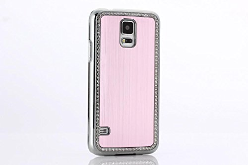 Samsung Glaxay S6 Deluxe Pink brushed aluminum diamond case bling cover for Samsung Glaxay S6
