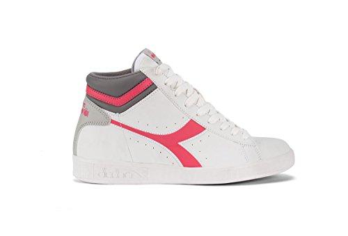 Diadora chaussure Sneaker Running Jogging Femme Game P High W White/Paradise Pink Bianco
