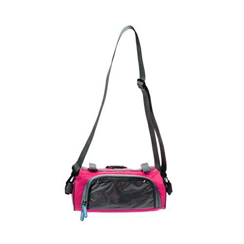 Hochwertige Fahrradtasche, Radfahren / Radsport Handytasche auf Lenker mit Touch-Screen, auch als Umhängetasche, Praktisch und Multifunktionell Rosa - Rund