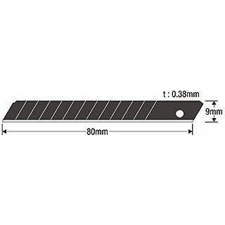 10 Stück - Profi Abbrechklingen 9 mm Ersatzklingen für Cuttermesser | KDS Power Black Evolution | SB-10B EVO | Klinge entwickelt für maximale Schärfe | MADE IN JAPAN