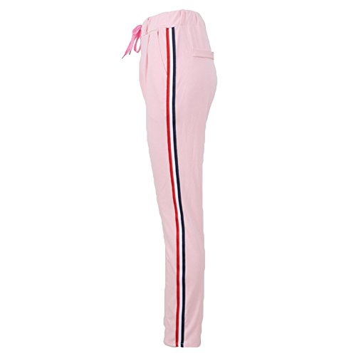 Femmes Transpiration Pantalon Survêtement - Femmes Joggers Aptitude Piste Pantalon Sport Fonctionnement Football Silm En forme Loisir Pantalon Tenue S - XL hibote Rose