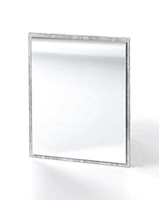 """Wandspiegel """"Helga 3"""", Betonoptik Dekor, Badezimmerspiegel, 45 x 60 x 2 cm, Spiegel, Badezimmerspiegel, Badspiegel"""