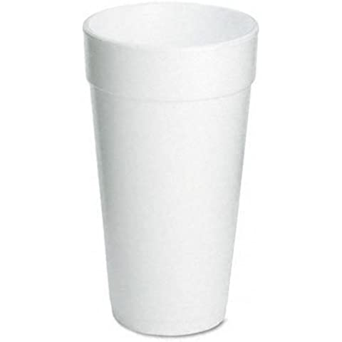 Dart 20J16 Drink Foam Cups- 20 oz.- 500/Carton by Dart Container Corp.