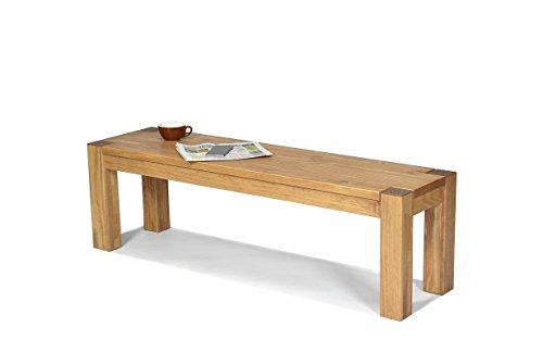 2 Stück Moderner Stuhl (Sitzbank ,,Rio Bonito,, 140x38cm, Bank Massivholz Pinie, geölt und gewachst, Farbton Honig hell, Optional: passende Tische)