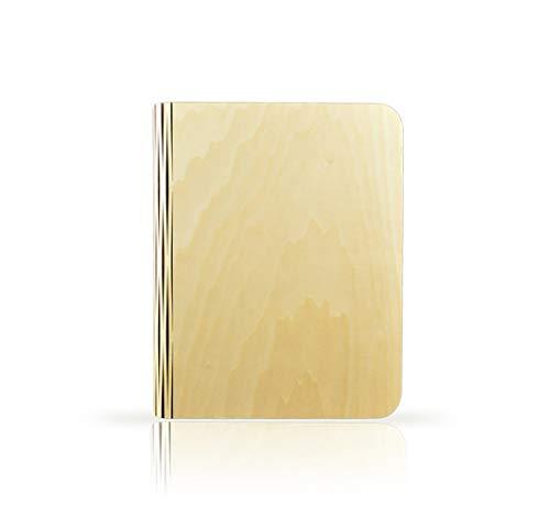 Preisvergleich Produktbild XGBIN Hölzernes faltendes Buchlicht,  magnetische USB,  das LED-Tischlampendekoration lädt,  Geburtstagsgeschenk für Frauen,  Männer,  Mutter,  Freundin,  Frau - warmes Weiß