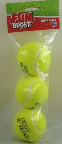 Confezione di 3 palline di Tennis giallo nuovo - 3 pollici (HL72)