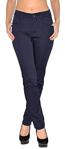 by -tex Damen High Waist Hose Damen Hochbund Stretch Hose bis Übergröße Übergrösse Gr. 44, 46, 48, 50, 52, 54, 56 (Bein Stretch Hose Gerades)