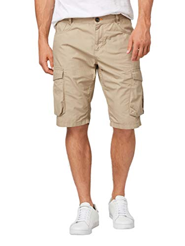 TOM TAILOR Casual Herren Cargo Shorts, Beige (Chinchilla 11018), W(Herstellergröße: 33) - Relaxed Fit Utility Pant