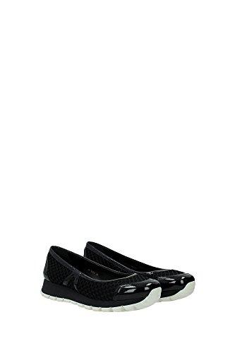 3F6157NERO Prada Ballerine Femme Tissu Noir Noir