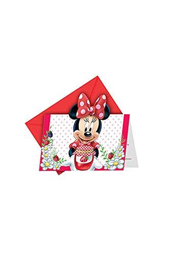 Procos Jam verpackt Disney Minnie Mouse Einladungen, 6Stück
